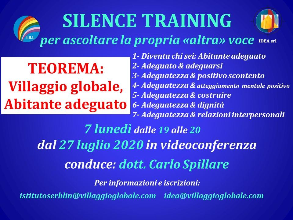 Silence Training Teorema con programma